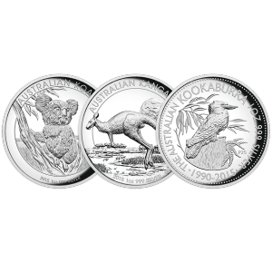 Set of 3 x 1 oz 2015 Australia High Relief Silver Proof Coins