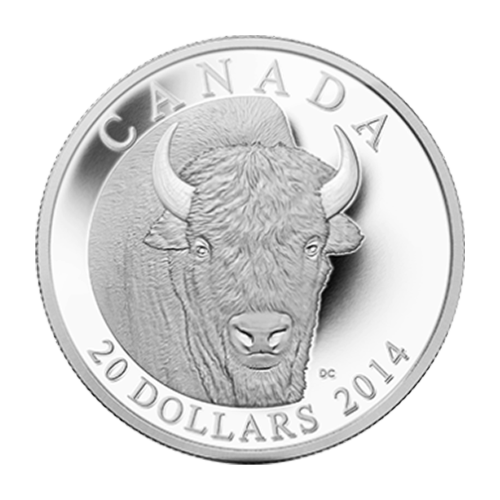 1 oz 2014 The Bison: A Portrait Silver Proof Coin