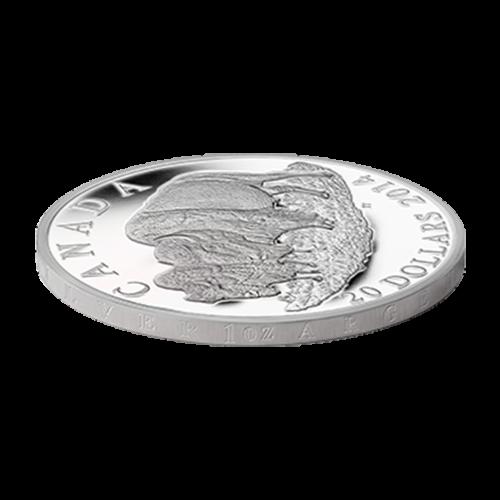 1 oz Silbermünze - Bison: Der Bulle und sein Weibchen - limitiert 2014