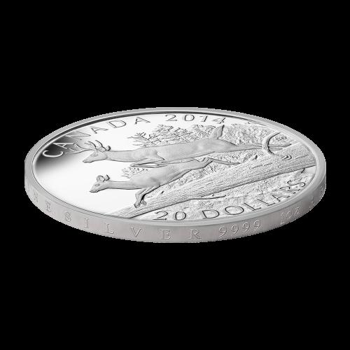 1 oz Silbermünze - Weißwedelhirsch: sich paarend - limitiert 2014