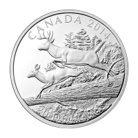 1oz 2014 White-Tailed Deer: Mates Silver Proof Coin