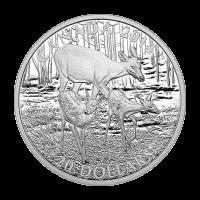 1 oz Silbermünze - Weißwedelhirsch: Hirschkuh und ihre Rehkitze - limitiert 2014