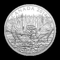 1 oz Silbermünze - Weißwedelhirsch: Eine Herausforderung - limitiert 2014