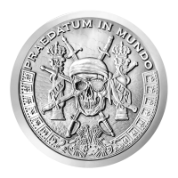 1 uns Silver Shield Pieces of Eight Silverrunda