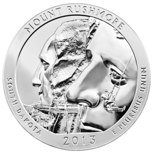 5 oz 2013 America the Beautiful | Mount Rushmore National Park Silver Coin