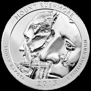 5 oz Silbermünze - Wunderschönes Amerika | Mount Rushmore Nationalpark 2013