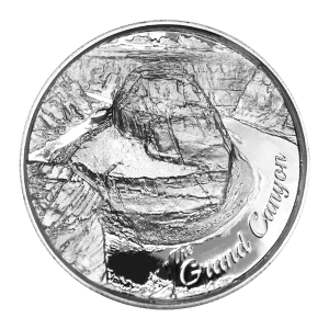 Ronda de Plata en Ultra Alto Relieve Serie American Landmarks | Grand Canyon de 2 oz.