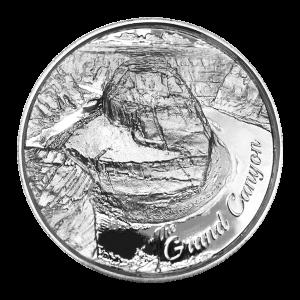 2 oz Silbermedaille - amerikanische Wahrzeichen Serie | Grand Canyon Ultrahochrelief