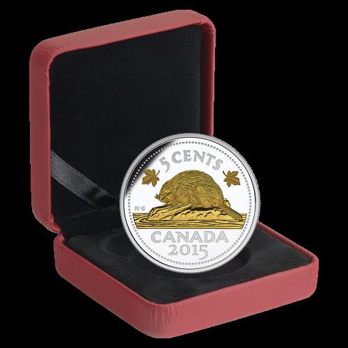 1 oz Silbermünze 5c Der Bieber | Vermächtnis des kanadischen Nickels - 2015