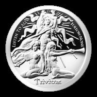 1 oz Silbermedaille - Trivium Damen - Silver Shield 2015 Zustand: Spiegelglanz