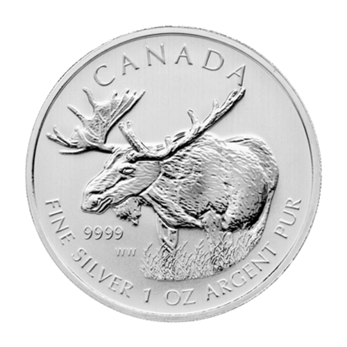 1 oz 2012 Canadian Moose Silver Coin