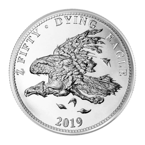 1 oz Zombucks Dying Eagle Silver Round