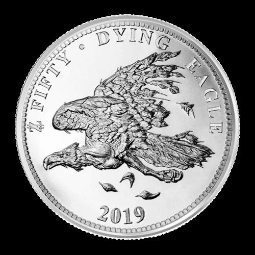 1 oz Silbermedaille - Zombucks - Sterbender Adler