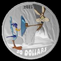 2 oz Silbermünze 2015 Looney Tunes™ klassische Szenen   Fast and Furry-ous