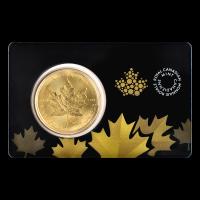 1 oz kanadische Goldmünze in Zertifikationskarte - Ahornblatt
