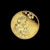 1/4 oz Goldmünze - Disney Prinzessin Schneewittchen - 2015 limitiert