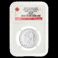 1/2 oz Silbermünze - Calgary Stampede MS-69 kanadische Kennzeichnung (eine der ersten Ausgaben) - 2015