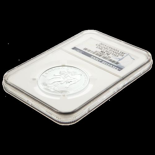 1/2 oz Silbermünze - Calgary Stampede MS-70 blaues Kennzeichen (eine der ersten Ausgaben) - 2015