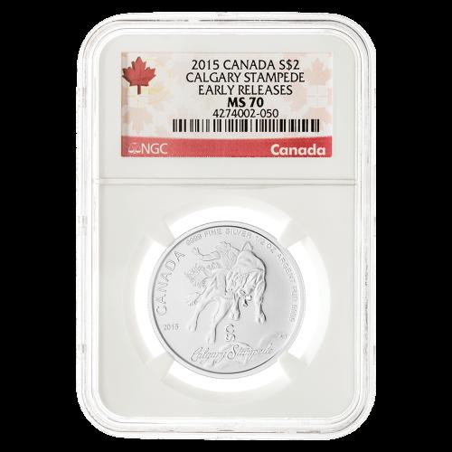"""Die Worte """"Elizabeth II Canada D.G. Regina 2 Dollars"""" und das Abbild der Königin Elizabeth II. nach Susanna Blunt"""