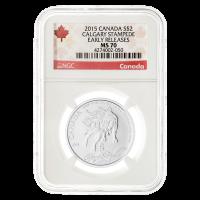 1/2 oz Silbermünze - Calgary Stampede MS-70 kanadische Kennzeichnung (eine der ersten Ausgaben) - 2015