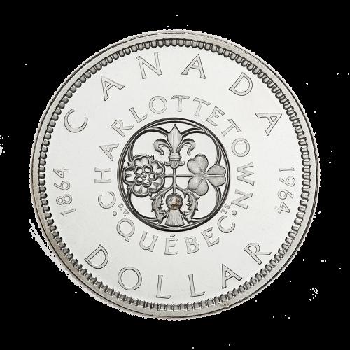 Dollar d'argent canadien 1964 en circulation de pureté 80 % d'une valeur nominale de 1 $