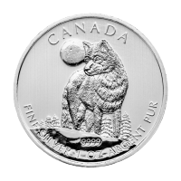 Moneda de Plata Lobo Gris Canadiense 2011 de 1 oz