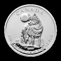 1 oz Silbermünze - kanadischer Timberwolf - 2011