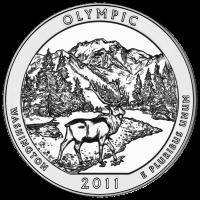 5 oz 2011 Wunderschönes Amerika | Olympic-Nationalpark Silbermünze