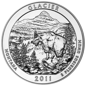 5 oz 2011 America the Beautiful | Glacier National Park Silver Coin