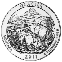 5 oz 2011 Wunderschönes Amerika | Glacier-Nationalpark Silbermünze
