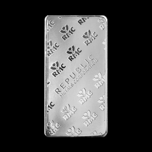 10 oz Republic Metals Corporation Silberbarren