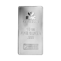 10 oz Republic Metals Corporation Silver Bar