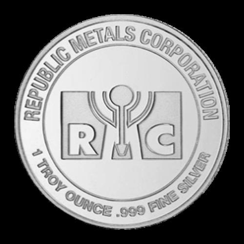 1 oz Republic Metals Corporation Silver Round