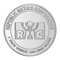 Ronde d'argent Republic Metals Corporation de 1 once
