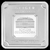 100 oz Geiger Edelmetalle Silberbarren - Security Line