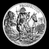 1 oz Prospector Silver Round