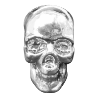 10 oz Yeager Poured Silver Skull
