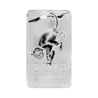 10 oz 2016 NTR Year of the Monkey Silver Bar