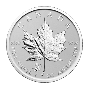 1oz 2016 Canadian Maple Leaf Year of the Monkey Privy Silver Coin