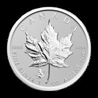 1 oz kanadische Silbermünze - Ahornblatt Jahr des Affen Sonderprägung - 2016