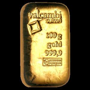 100 g Goldbarren Valcambi