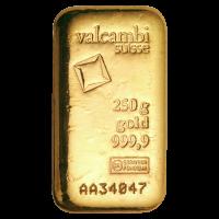 250 g Płytka Złota Valcambi
