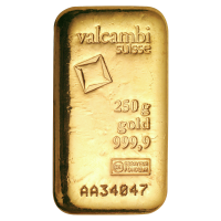 250 gram Valcambi Gold Bar