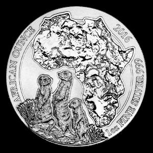 Moneda de Plata Suricata Africana de Rwanda 2016 de 1 oz