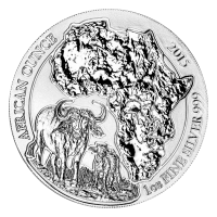 1 oz Ruanda Silbermünze - afrikanischer Kaffernbüffel - 2015