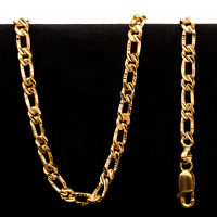 51.2 g 22 kt Figarucci Style Gold Necklace