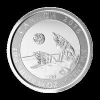 3/4 oz kanadische Silbermünze - heulende Wölfe - 2016