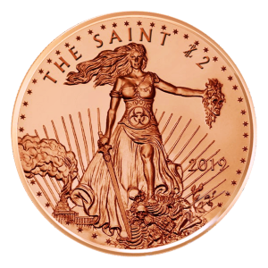 1 oz Zombucks The Saint Copper Round