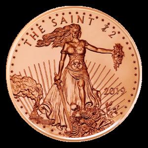 1 oz Kupfermedaille - Zombucks - Der Heilige