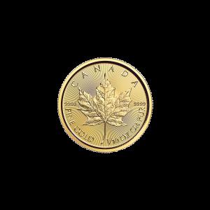 Pièce d'or Maple Leaf canadienne 2016 de 1/10 once